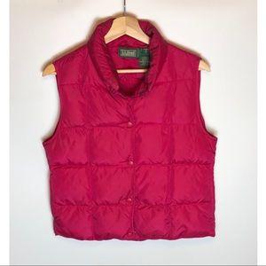 Womens LL Bean Goose Down Puffer Vest Small